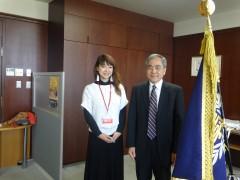 学長先生と水戸 真奈美さん